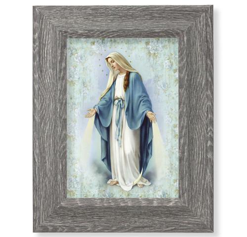 "Our Lady of Grace Dark Gray Framed Art | 5"" x 7"""