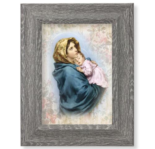 "Madonna of the Streets Dark Gray Framed Art | 5"" x 7"""