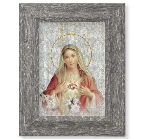 "Immaculate Heart of Mary Dark Gray Framed Art | 5"" x 7"""