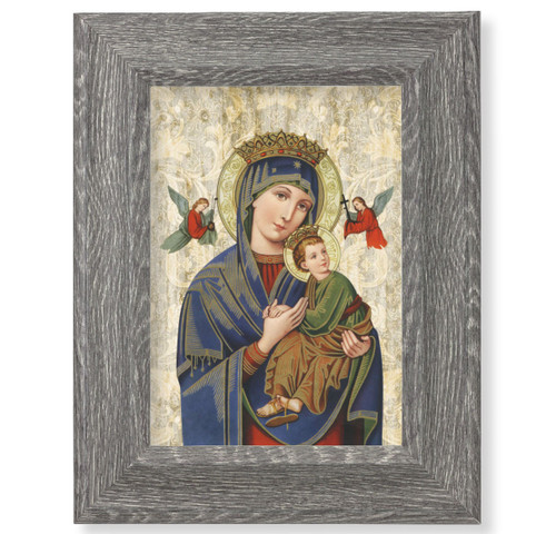 """Our Lady of Perpetual Help Dark Gray Framed Art 