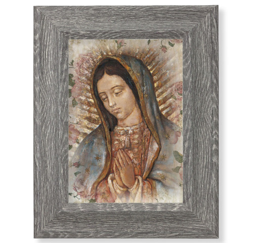 """Our Lady of Guadalupe Dark Gray Framed Art 