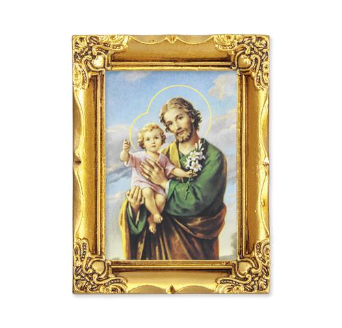 St. Joseph Square Framed Print | Antique Gold Frame