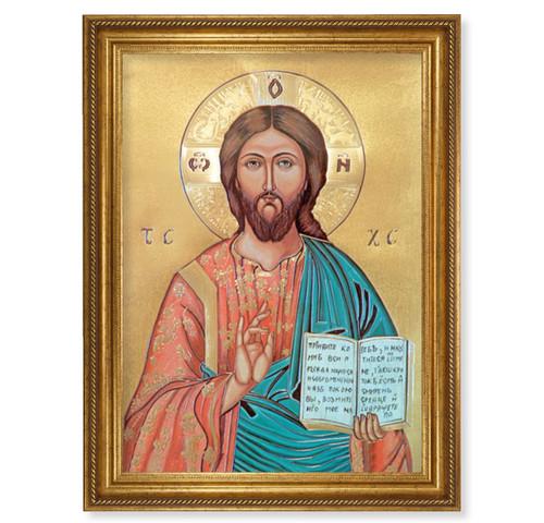 "Christ the Teacher Antique Gold-Leaf Framed Art | 19"" x 27"""