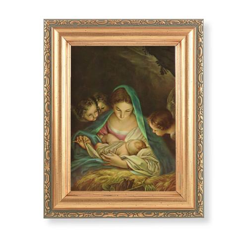 "St. Anthony Antique Gold Framed Art | 4"" x 5.5"""