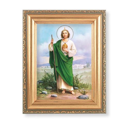 "St. Jude Antique Gold Framed Art | 4"" x 5.5"""