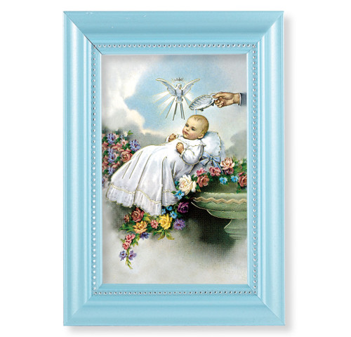 "Baptism Pearlized Blue Framed Art | 4"" x 6"""