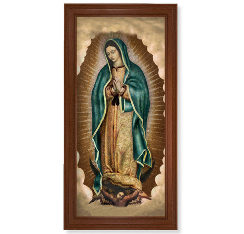 """Our Lady of Guadalupe Walnut Finish Framed Art 