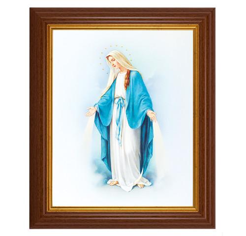 "Our Lady of Grace Dark Walnut Framed Art   8"" x 10"""