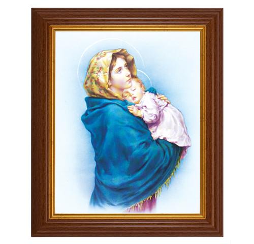"Madonna of the Streets Dark Walnut Framed Art   8"" x 10"""