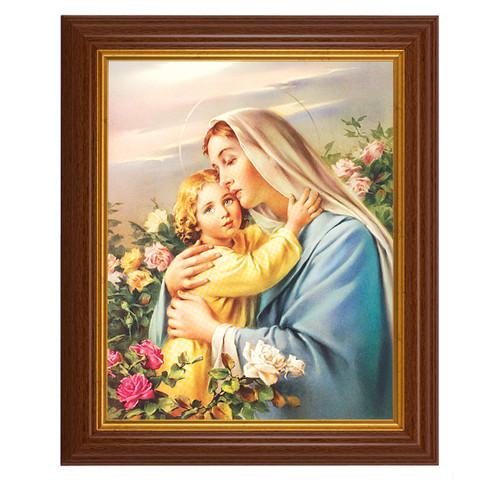 "Madonna and Child Dark Walnut Framed Art   8"" x 10"""
