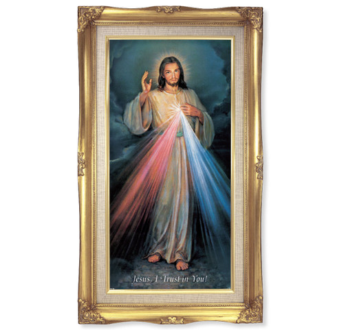 """Divine Mercy Deluxe Gold Frame 