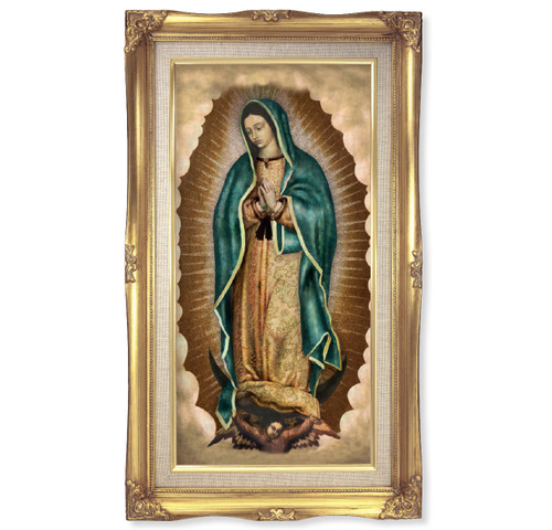 """Our Lady of Guadalupe Deluxe Gold Framed Print 
