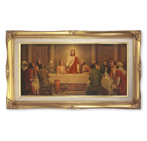 "Last Supper (Chambers) Deluxe Gold Framed Art | 14"" x 24"""
