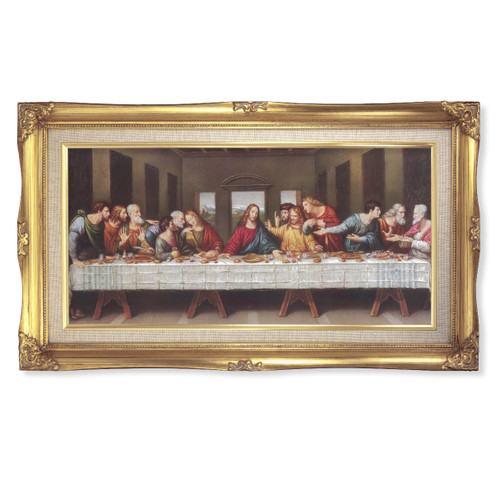 "Last Supper Deluxe Gold Framed Art | 14"" x 24"""