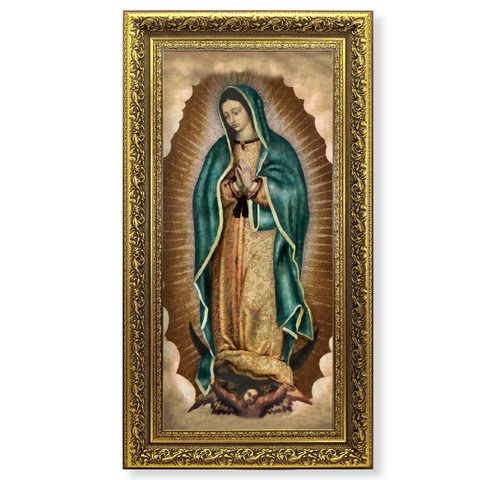 """Our Lady of Guadalupe Gold-Leaf Framed Art 