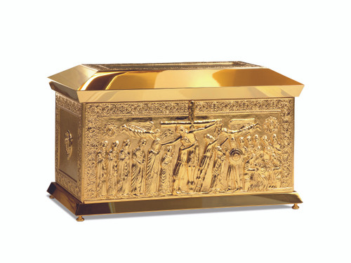 #4145 Deposition from the Cross Chest Tabernacle | Gold & Silver-Plated