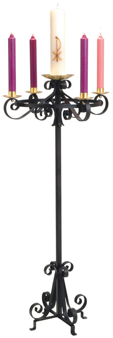 K4035 Standing Advent Wreath | Wrought Iron