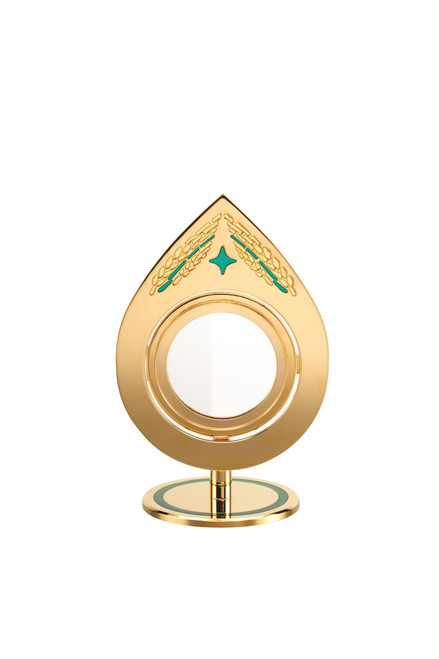 #7315 Chapel Ostensoria Monstrance | 24K Gold-Plated | Handmade In Spain