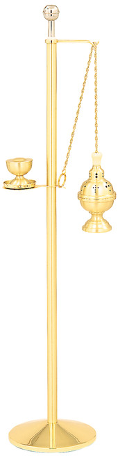 Two-Tone Stand with K101 Censer in 24K Gold-Plated Finish