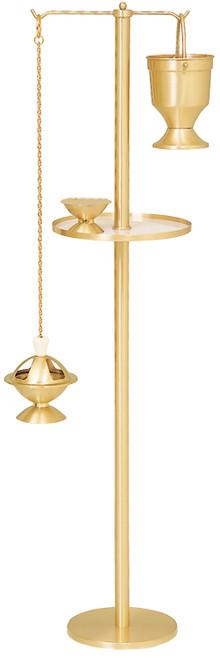 Stand in Satin Bronze with Censer K801 in Satin Bronze