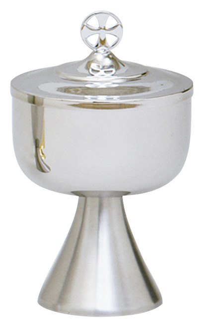 K566 Traditional Covered Ciborium   Satin Stainless Steel