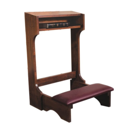 Padded Kneeler | Dark Walnut Stain