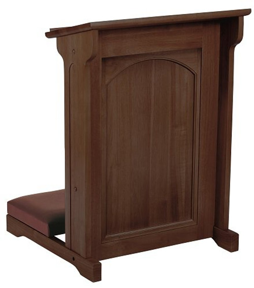Abbey Collection Padded Kneeler | Walnut Stain