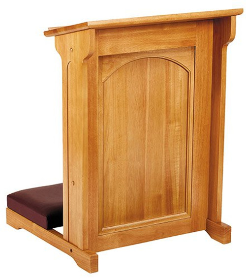 Abbey Collection Padded Kneeler | Medium Oak Stain
