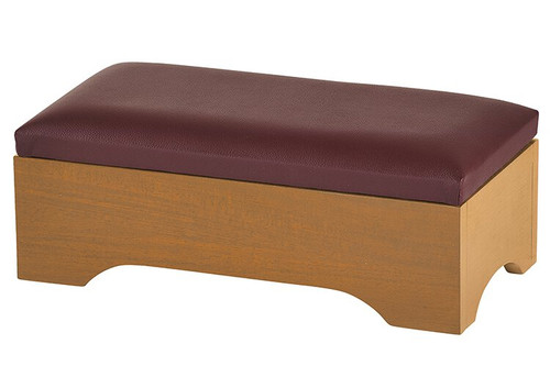 Personal Kneeler with Storage | Pecan Stain