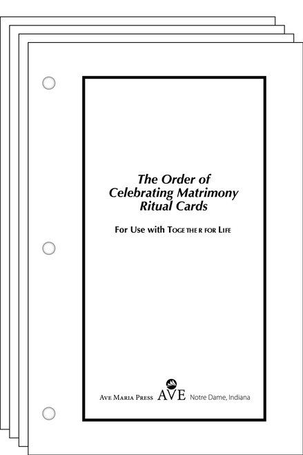 The Order of Celebrating Matrimony Cards Ritual Cards Edition
