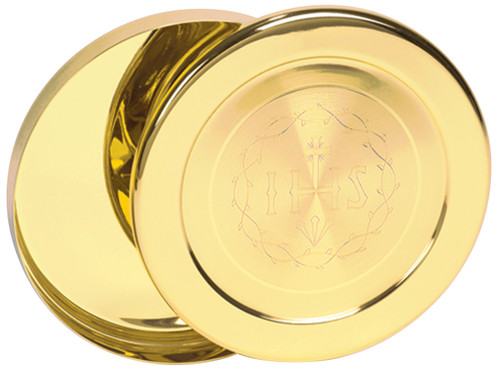 K375 IHS-Engraved Host Box | 24K Gold-Plated