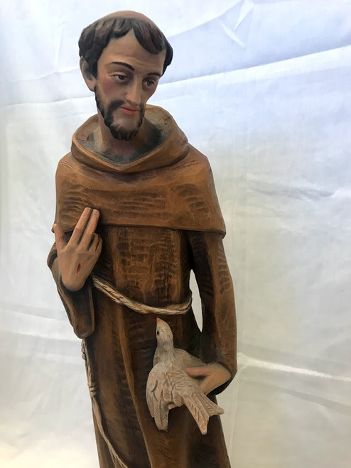 "24"" St. Francis with Deove Statue 