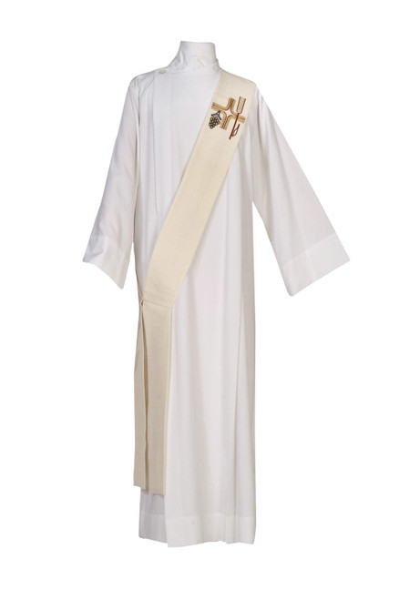 #0968 Abel Series Deacon Stole | Wool/Gold Thread | All Colors