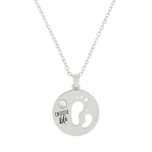 "Choose Life Necklace | 18"" Chain"