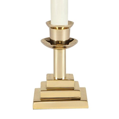 "3-1/8"" Chapel Altar Candlestick | Solid Brass"