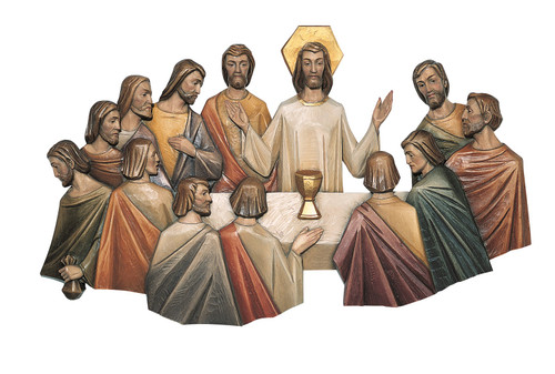 #128/5 Last Supper 3/4 Relief by Angelo Gherardi | Handmade In Italy