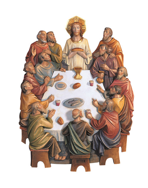 #128/9 Last Supper 3/4 Relief | Handmade In Italy