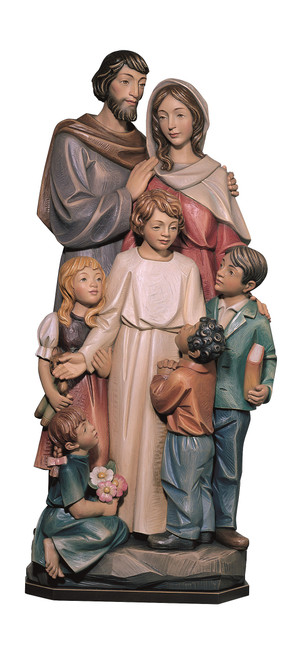 #140/13 Holy Family 3/4 Relief Plaque | Handmade In Italy