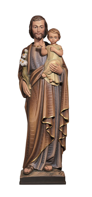 #328 St. Joseph with Child Statue | Handmade In Italy