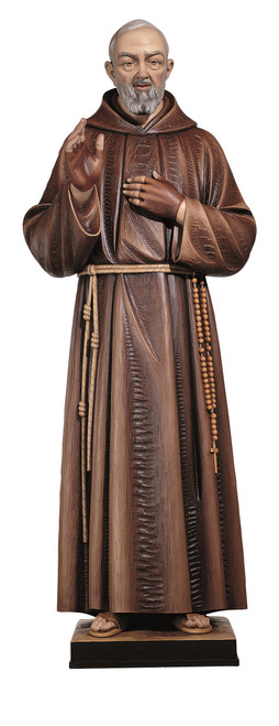 #600/88 St. Padre Pio Blessing Statue | Handmade In Italy