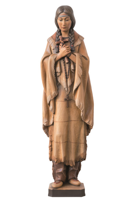 #901 St. Kateri Tekakwitha Statue | Handmade In Italy