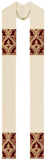 #2784 Memling Hand-Embroidered Velvet Overlay Stole | Wool