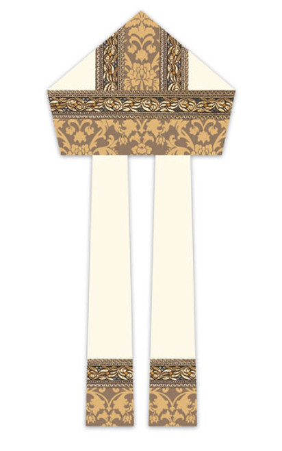 #3219 Gold Embroidered Mitre | 100% Wool