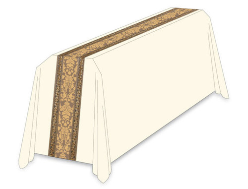 #3219 Gold Embroidered Funeral Pall | 6' x 10' | 100% Wool | All Colors