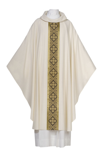 #0215 Saxony Collection Featherweight Chasuble | Roll Collar | Cool Wool | All Colors
