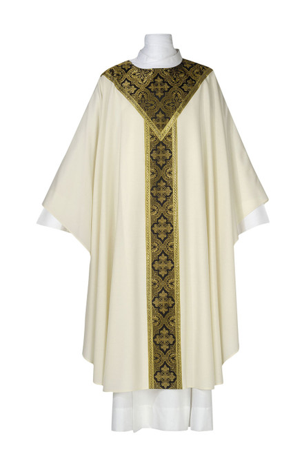 #0315 Saxony Collection Featherweight Chasuble | Plain Collar | Multiple Fabrics | All Colors