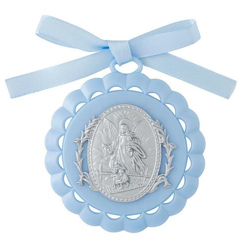 "3.5"" Guardian Angel Crib Medallion | Gift Boxed | Blue"