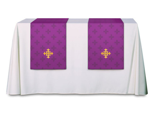 #3978 Embroidered Cross Altar Parament | 100% Polyester Damask | All Colors