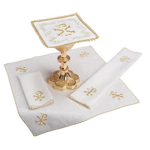Chi Rho Altar Linen Set | 100% Linen