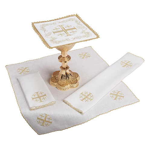 Jerusalem Cross Altar Linen Set | 100% Linen